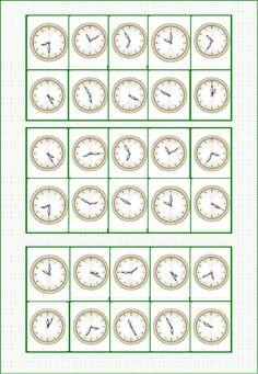 BINGO ¿ QUÉ HORA ES ? Bingo, Typing Games, Math Games, Maths, Maze Worksheet, Worksheets, Complex Numbers, Middle School Spanish, English Games