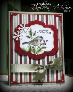 by darleenstamps - Cards and Paper Crafts at Splitcoaststampers : Beautiful Season Michelle! by darleenstamps - Cards and Paper Crafts at Splitcoaststampers : Beautiful Season Stamped Christmas Cards, Homemade Christmas Cards, Christmas Cards To Make, Xmas Cards, Homemade Cards, Holiday Cards, Beautiful Christmas Cards, Christmas Bird, Christmas Paper