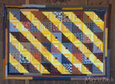Maryandpatch, A Quilt for a man, Log Cabin
