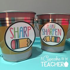 Pencil Cup Labels {Freebie}