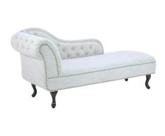 Chaise longue Scarlett - crema y beige Purple Furniture, Bedroom Furniture Design, Bedroom Sofa, Girl Bedroom Designs, Living Room Sofa, Luxury Furniture, Living Room Designs, Sofa Chair, Sofa Set