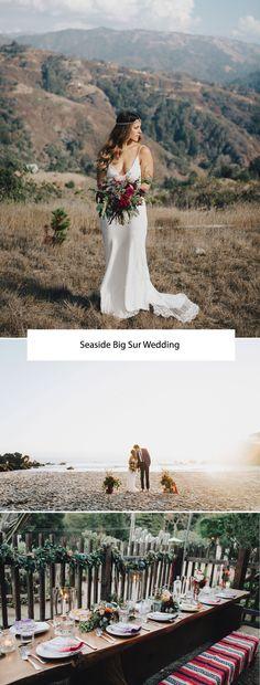 Seaside Big Sur Wedding: Katie + David