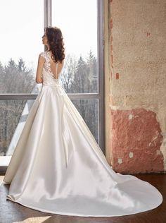 NOVABELLA 30247 - dianelegrandbridal.com Dream Wedding, Ivory, Wedding Dresses, Lace, Fashion, Bride Dresses, Moda, Bridal Gowns, Fashion Styles
