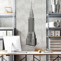 Chrysler Building - VINILOS DECORATIVOS Vinilos Decorativos: Señal Nueva York #decoracion #teleadhesivo #nuevayork #nueva #york