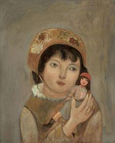 Dziewczynka z lalką - Tadeusz Makowski