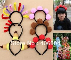 Free shipping,6pcs/set,In the Night Garden character Iggle Piggle,Upsy Daisy children performance party headband ,head circle