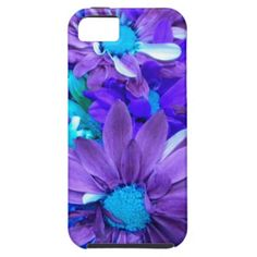 Purple N Turquoise Bouquet iPhone 5 Case #zazzle #electronics #iphone5 #purple #bouquet #flowers