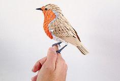 Wow ! (Karya Seni) Burung Ini Dibuat Dari Kertas