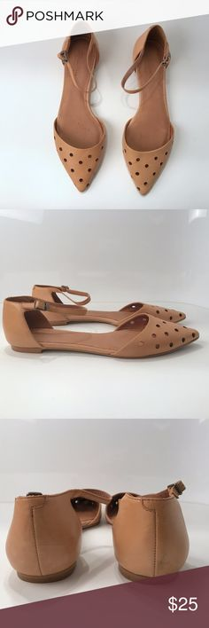 5b995c4944b MADEWELL FLATS HOLEPUNCH BEATRICE SKIMMER SZ 9.5 PRE-OWNED Measurements  - Size  9.5