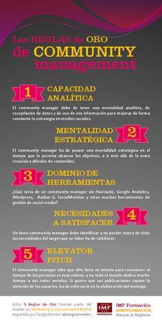 Las 5 reglas de oro del community management #infografia #infographic #socialmedia