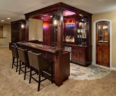 Luxury Basement Bar Accessories