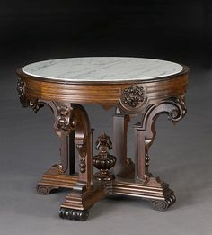 antique round table, beautiful