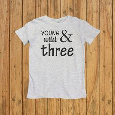 Three Year Old Birthday Shirt  Toddler 3rd by UnordinaryToddler