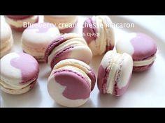 블루베리 크림치즈 마카롱- Blueberry cream cheese macaron, マコロン - YouTube Bread Cake, Dessert Bread, Real Food Recipes, Cookie Recipes, Dessert Recipes, Macaron Cookies, Macaroon Recipes, Sweet Pie, Food Decoration