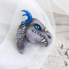 Dragon brooch Ice Dragon brooch Ice Dragon pin Night King pet