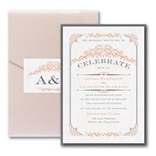 Wedding Day Grandeur - Layered Pocket Invitation