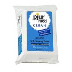 """Lingettes intimes anti-bactérienne, sans parfum  """"Clean Fleece"""" de Pjur."""