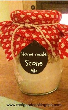 For a special DIY Holiday Hostess Gift, try a little Homemade Scone Mix Recipe in a Jar. Mason Jar Mixes, Mason Jars, Mason Jar Cookies, Homemade Dry Mixes, Homemade Gifts, Homemade Food, Jar Gifts, Food Gifts, Gift Jars