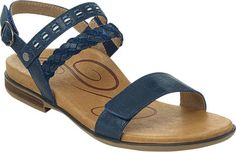 4e47f26286a Women's Aetrex Celeste Quarter Strap Sandal - Navy Leather with FREE  Shipping & Exchanges.