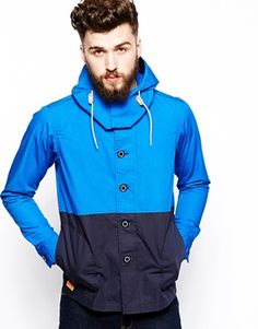 Black Chocoolate Hooded Jacket In Colour Block