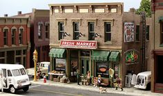 Woodland Scenics Pre-Fab Building -- Fresh Market HO Scale -- HO Scale Model Railroad Building -- #pf5180