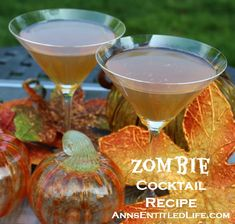 a spooktacularly strong Zombie Cocktail Recipe made with the classic recipe, perfect for your Halloween get together. Can be served lit or unlit. Cocktail Recipes, Cocktails, Cocktail Parties, Zombie Cocktail, Halloween Drinks, Wine And Liquor, Mixed Drinks, Mojito, Food To Make