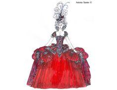 Baroque 18th century rococo Venice Carnival Il Ballo Del Doge