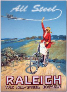 Raleigh bikes have been engineering & manufacturing best in class bikes for over 129 years. Make your next bike a Raleigh bike. Raleigh Bicycle, Raleigh Bikes, Vintage Advertisements, Vintage Ads, Vintage Posters, Retro Ads, Old Bicycle, Bicycle Art, Vintage Cycles