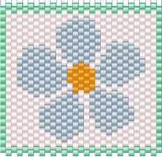 Peyote stitch flower pattern from Bead & Button Bead-It-Forward project