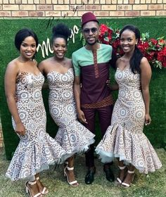 shweshwe dresses trends of 2019 - Reny styles Wedding Dresses South Africa, African Wedding Attire, African Attire, African Fashion Dresses, African Dress, African Wear, African Weddings, African Clothes, Ankara Dress