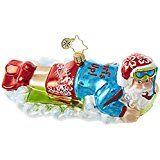 Amazon.com: Christopher Radko Vintage Ride Little Gem Santa Claus Christmas Ornament: Home & Kitchen