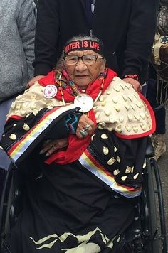 86-year-old Sioux grandmother - this is the face of Standing Rock.
