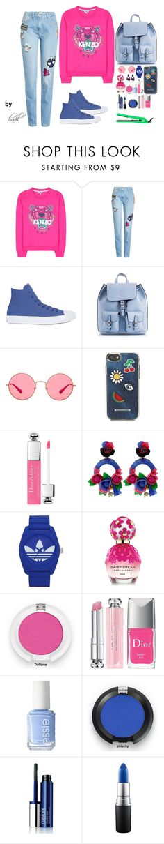 """""""Anywhere"""" by xoxohadil on Polyvore featuring mode, Kenzo, Converse, Coccinelle, Ray-Ban, Rebecca Minkoff, Ranjana Khan, adidas, Marc Jacobs et Christian Dior"""
