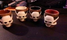 Skull cross bone shot glass set