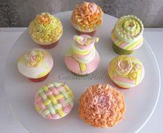 Enchanted garden cupcakes for a photoshoot