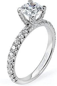 www.michaelmcollection.com, Michael M. Pave Diamond Engagement Ring, diamond ring, engagement ring, gold ring, platinum ring, bride, bridal, fiance, wedding, engagement