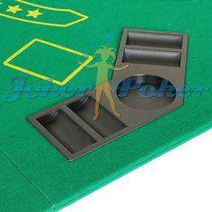 tampo de mesa de poker dobrável portátil com porta copos e porta fichas