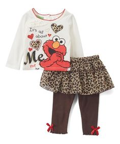 Children s Apparel Network Sesame Street Elmo  About Me  Tee and Skirted  Leggings - Infant 3c0c94cdd