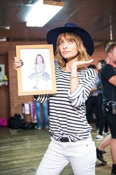 Nicole Richie working her breton tee #stripesrule
