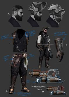 ArtStation - Machinist Costume Turnaround, Aldo Vicente