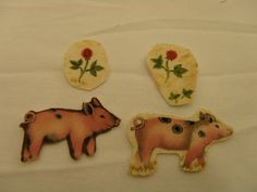 Lovely iron on  pig patches   Fabric Applique DYI by BeeDoodles, $1.50