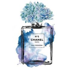 Chanel No.5 watercolor Mint Purple PRINTABLE A4 watercolour Chanel... ❤ liked on Polyvore featuring home, home decor, wall art, purple home accessories, watercolor poster, printable wall art, purple wall art and watercolor fashion illustration