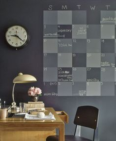 Schoolbordverf en magneetverf kalender