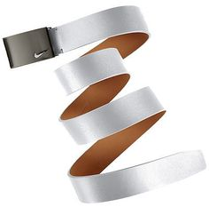 Other Mens Golf Clothing 181141: Nike No Hole Plaque Belt White Small BUY IT NOW ONLY: $45.33