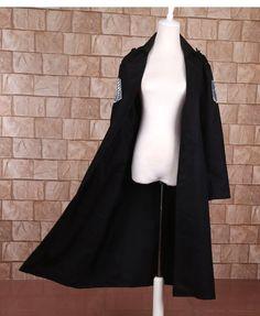 Good Quantity Japanese Anime Shingeki no Kyojin Attack on Titan Cosplay Costume Dust Coat