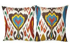 almost exactly the pillows I'm seeking - perhaps with slightly different color scheme