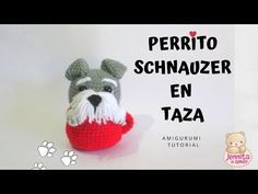 (341) PERRITO SHNAUZER EN TAZA Amigurumi Tutorial Crochet Paso a Paso (Patrón en Descripción) - YouTube Amigurumi Tutorial, Tutorial Crochet, Crochet Gifts, Crochet Baby, Crochet Stitches, Crochet Patterns, Crochet For Beginners, Crochet Hair Styles, Crochet Animals