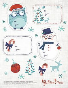 We Love to Illustrate: Free Printable Gift Tags! - Julissa Mora
