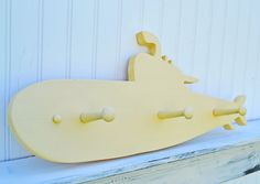 Under the Sea Decor Submarine Coat Rack by LifeUnscripted on Etsy, $54.00