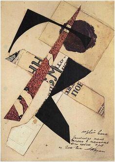 "Varvara Stepanova - Illustration for ""Gly gly"", First warrior, 1919"